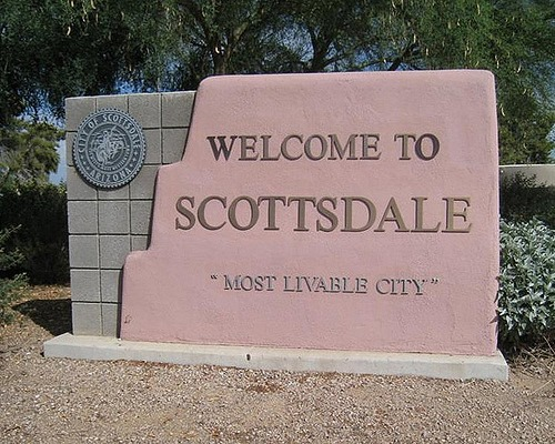 Welcome to Scottsdale sign
