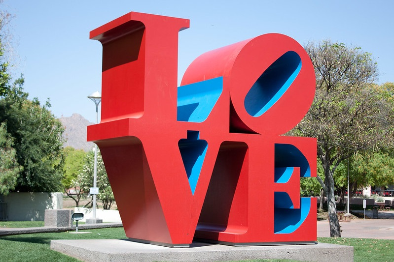 Love statue in Scottsdale Arizona